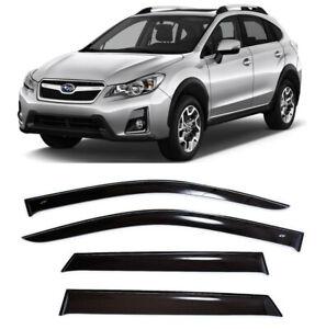 For Subaru XV 2011-2016 Window Visors Side Sun Rain Guard Vent Deflectors