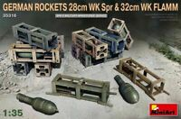 MINIART 1:35 KIT ACCESSORI GERMAN ROCKETS 28CM WK SPR & 32CM WK FLAMM  ART 35316