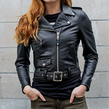 Schott NYC 218W Perfecto Lambskin Women Leather motor-Jacket  Made in USA NewWT