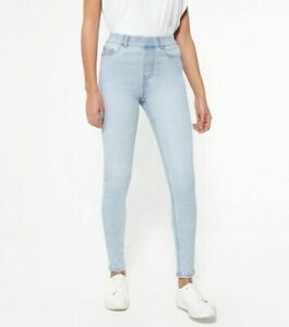 New Look Pale Blue Mid Rise 'Lift & Shape' Emilee Jeggings UK Size 16