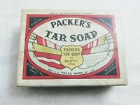 Packer's Tar Soap w/  Wartime Packaging Box Advertising Box Made in USA