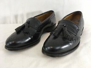 Allen Edmonds Bridgeton Mens 8 1/2 Black Leather Tassel Loafer Dress Shoes