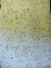 MOTIF DESIGNS MODERN & WHIMSCAL TOILE RASPBERRY & WHITE #1401