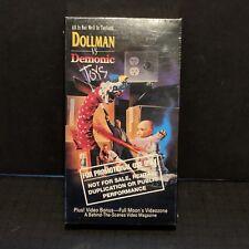 PROMO vhs DOLLMAN vs DEMONIC TOYS sealed Halloween HORROR RARE promotional new