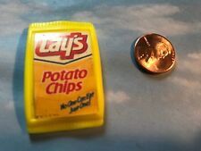 BARBIE DOLL HOUSE FOOD DIORAMA TYCO KITCHEN LITTLES BAG OF LAY'S POTATO CHIPS