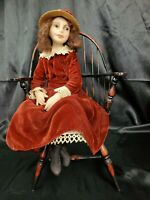 AVIGAIL ANNA BRAHMS FIMO ARTIST SIGNED DOLL ONE OF A KIND OOAK w/ doll chair