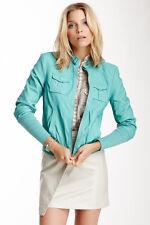 Kenneth Cole Newyork women faux leather bomber jacket size M