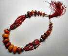 Ancien Collier de mariage berbère argent corail turquoise Afrique du Nord