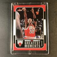 MICHAEL JORDAN 2006 FLEER #MJ-10 GREATEST MOMENTS INSERT CARD BULLS NBA HOF