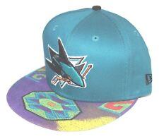 PICK1 San Jose Sharks Aztec Mitchell & Ness/New Era SnapBack Jordan 8 Aqua Grape