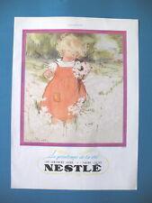 PUBLICITE DE PRESSE NESTLE BéBé PRINTEMPS DE LA VIE ILLUSTRATION DAWSON AD 1936