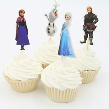 24X Princess Elsa Anna toppers Cupcake Cup Cake Topper Party disney frozen