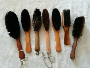 7 x Vintage Wooden Clothes Hat Brushes