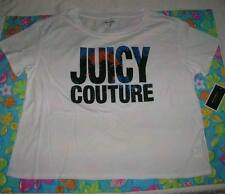 NWT JUICY COUTURE Womens WHITE Graphic Tee Shirt Top Large L Glitter Sunset