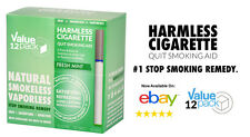 BEST VALUE / Natural Quit Smoking Aid / Harmless Cigarette Fresh Mint (12 Pack)