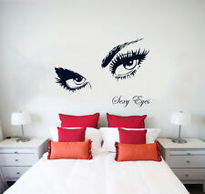 Wall Decal Sexy Eyes Vinyl Sticker Decals Beauty Salon Decor Home Bedroom NS348