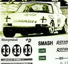 Porsche 911 Smash Limonade #33 DM 1968 1:24 Autocollant Décalcomanie