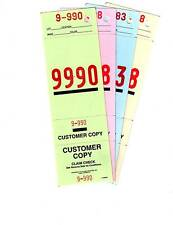 4 PART VALET PARKING TICKET with KEY HOLES 1000 per pack