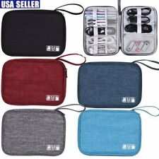 Electronics Accessories Organizer Travel Storage Hand Bag Cable USB Drive Case