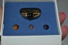 Gold Tone Interchangable Stone Avon Size 9  Box Ring