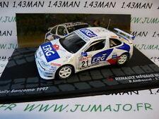 RIT12 1/43 IXO Altaya Rallye ITALIE RENAULT Mégane Maxi San rémo 1997 Andreucc