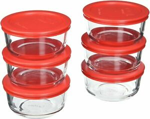 Pyrex 2-Cup Glass Food Storage Set with Lids