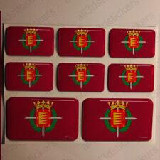 Pegatinas Valladolid España Pegatina Bandera Adhesivo Ciudad 3D Relieve Resina