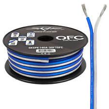 Skar Audio Elite 14 Gauge Oxygen-Free Copper Speaker Wire - 30 Feet (Blue/White)