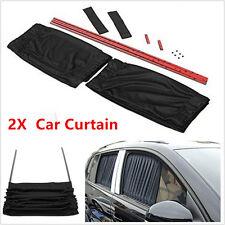 2x Adjustable Car Window Windscreen Mesh Style Curtain Sun Shade Visor Anti-UV
