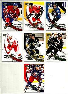 2008-09 UPPER DECK CAPTAINS CALLING COMPLETE 7 CARD SET LOT Mint Crosby Sakic BV