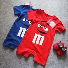 Babygrow M&M sweets Romper baby boy girl Babysuit 0-1, 0-2, 2-3 years Bodysuit