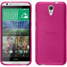 Silicone Case HTC Desire 620 brushed hot pink + protective foils