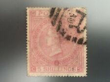 Royal Mail GB UK ENGLAND QV 5s pale rose 1867 SG 127 plate 2 Wmk Matese Cross