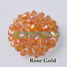 3mm 4mm 6mm 8mm Bicone Crystal Glass Faceted Loose Spacer Beads Wholesale Lots