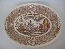 Vernon Kilns Hand Painted Under Glaze Vernon's 1860 Botsford Oval Plate (Rare)