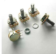 5pcs 20K Ohm B20K Knurled Shaft Linear Rotary Taper Potentiometer
