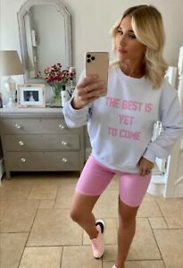 MyNelly Lilac White The Best Is Yet To Come Sweatshirt