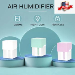 Bryights Humidificador Aceites Esenciales Mini Humidificador De Aire Ultras/ónico Carga USB 7 Colores Luz Nocturna Led Aceite Esencial Difusor De Aroma para Oficina Coche Hogar-Grano De Madera