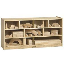 Mobile Kids Block Storage Cabinet 9 Compartment PreSchool Class Room Shelf Cart