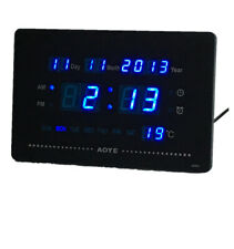 LED digital Wanduhr mit Datum Temperatur Kiosk Cafe Bar Große Zahl