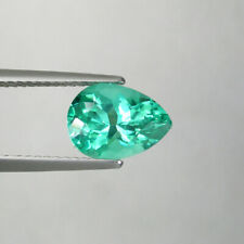 2.24  ct TOP LUSTROUS - BLUEISH  GREEN 100%  NATURAL APATITE - Pear   - 4824