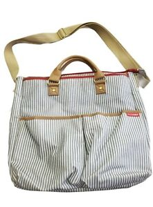 Skip Hop Duo Diaper Bag Special Edition Luxe In French Stripe With Changing Pad