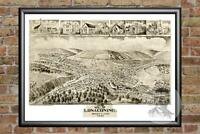 Old Map of Lonaconing, MD from 1905 - Vintage Maryland Art, Historic Decor
