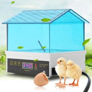 4 Eierinkubator Vollautomatischer LCD-Inkubator-Inkubator 10 x 10 x 11,5 cm DE