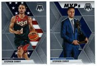 STEPHEN CURRY 8 CARD LOT 2012 - 2019 MOSAIC PURPLE NSCC BRILLIANCE HOOPS MVP