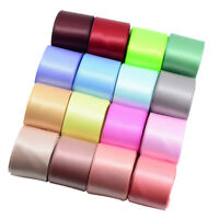 16Pieces Colored Set Double Sided Faced Satin Ribbon DIY Sewing Craft 25mm