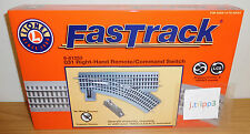 LIONEL FASTRACK #81253 0-31 RIGHT HAND REMOTE SWITCH TRACK O GAUGE TRAIN COMMAND