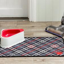 pet rebellion Dinner mate tartan absorbent pet food mat