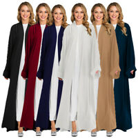 Dubai Muslim Women Open Front Kimono Cardigan Long Maxi Dress Abaya Kaftan Gown