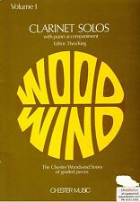 Chester Woodwind Series, Clarinet Solos with Piano Acompaniment Volume 1, New.
